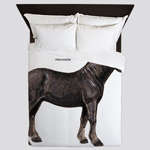 Percheron Horse Queen Duvet
