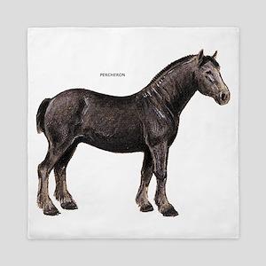 Percheron Horse Queen Duvet