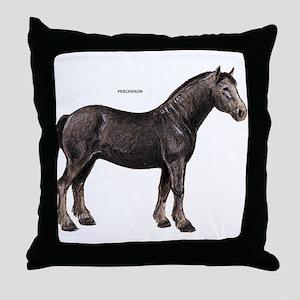 Percheron Horse Throw Pillow