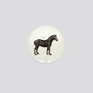 Percheron Horse Mini Button