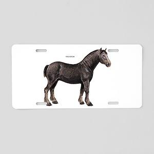 Percheron Horse Aluminum License Plate