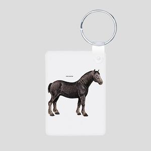 Percheron Horse Aluminum Photo Keychain