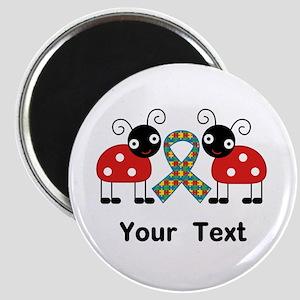 Personalized Autism Ladybug Magnet