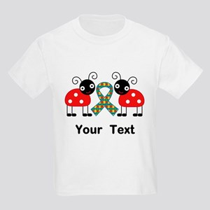 Personalized Autism Ladybug Kids Light T-Shirt