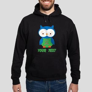 Personalized Autism Owl Hoodie (dark)
