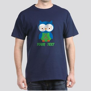 Personalized Autism Owl Dark T-Shirt