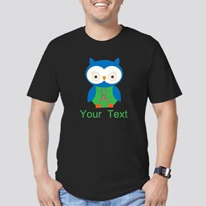 Personalized Autism Owl Men's Fitted T-Shirt (dark