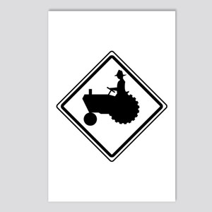 Tractor Crossing Ahead Postcards (Package of 8)