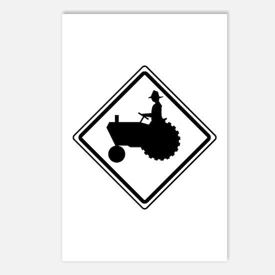 Tractor Crossing Ahead Postcards (Package of 8)