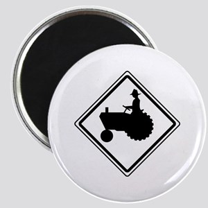 Tractor Crossing Ahead Magnet