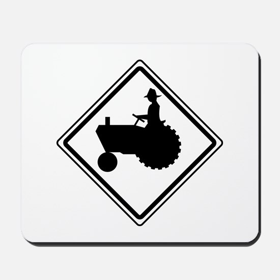 Tractor Crossing Ahead Mousepad