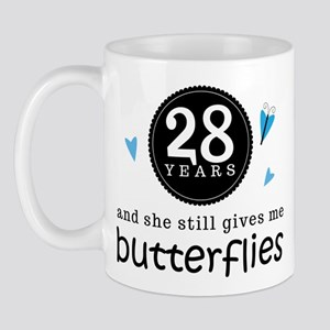 28 Year Anniversary Butterfly Mug