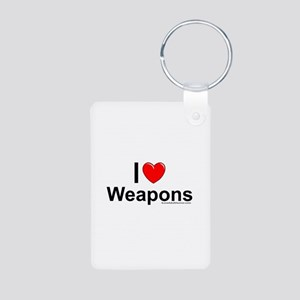 Weapons Aluminum Photo Keychain