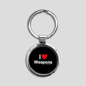 Weapons Round Keychain