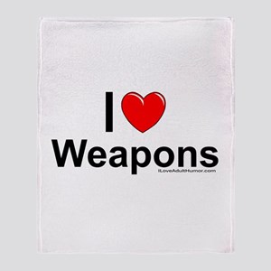 Weapons Throw Blanket