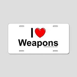 Weapons Aluminum License Plate