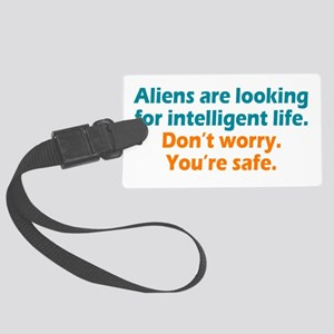 Aliens Looking Large Luggage Tag