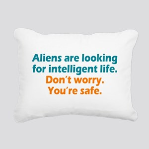 Aliens Looking Rectangular Canvas Pillow