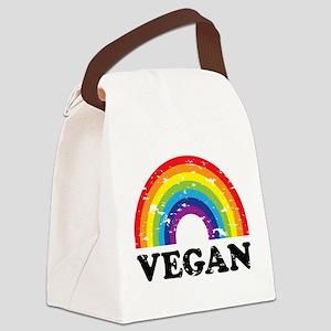 Vegan Rainbow Canvas Lunch Bag