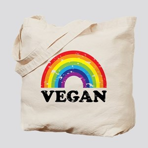 Vegan Rainbow Tote Bag