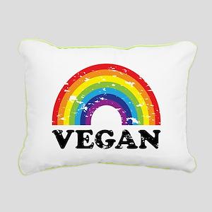 Vegan Rainbow Rectangular Canvas Pillow