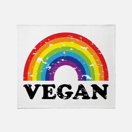 Vegan Rainbow Throw Blanket