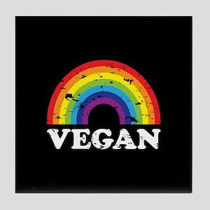 Vegan Rainbow Tile Coaster