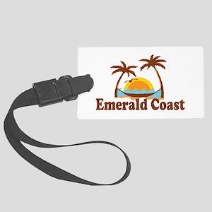 Emerald Coast - Palm Tree Design. Large Luggage Ta