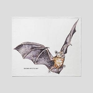 Brown Myotis Bat Throw Blanket