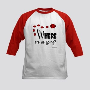 Where Are We Going? Kids Baseball Jersey