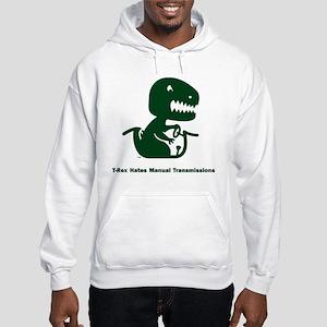 T-Rex Hates Hooded Sweatshirt