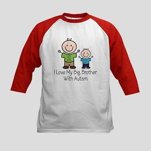 Autism Big Brother Kids Baseball Jersey