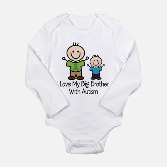 Autism Big Brother Long Sleeve Infant Bodysuit