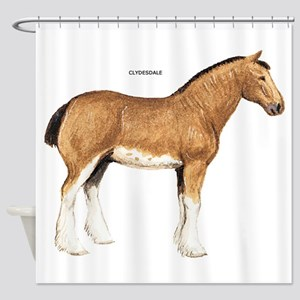 Clydesdale Horse Shower Curtain