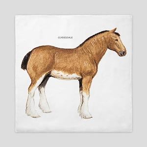 Clydesdale Horse Queen Duvet