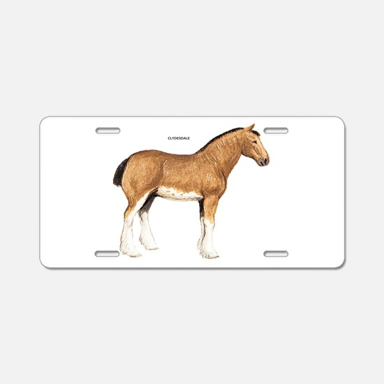 Clydesdale Horse Aluminum License Plate