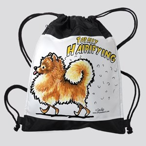 Pomeranian Hairifying Drawstring Bag