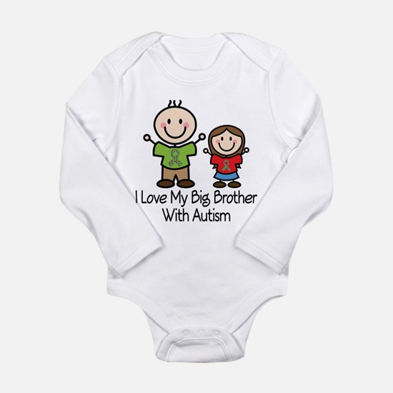 Autism I Love Big Brother Long Sleeve Infant Bodys