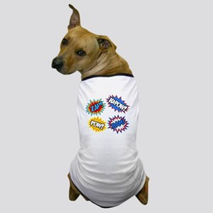 Hero Pow Bam Zap Bursts Dog T-Shirt