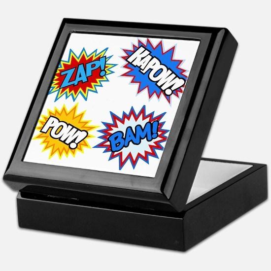 Hero Pow Bam Zap Bursts Keepsake Box