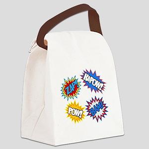 Hero Pow Bam Zap Bursts Canvas Lunch Bag