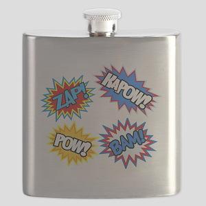 Hero Pow Bam Zap Bursts Flask