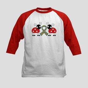 Cute Ladybug Autism Kids Baseball Jersey