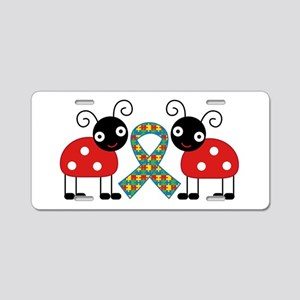 Cute Ladybug Autism Aluminum License Plate