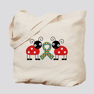 Cute Ladybug Autism Tote Bag