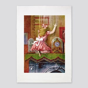 Alice Through the Looking Glass 5'x7'Area Rug
