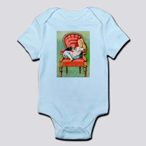 Alice & Dinah in the Big Red Chair Infant Bodysuit