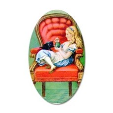 Alice & Dinah in the Big Red Chair Wall Decal