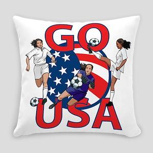 Go USA Womens Soccer Everyday Pillow