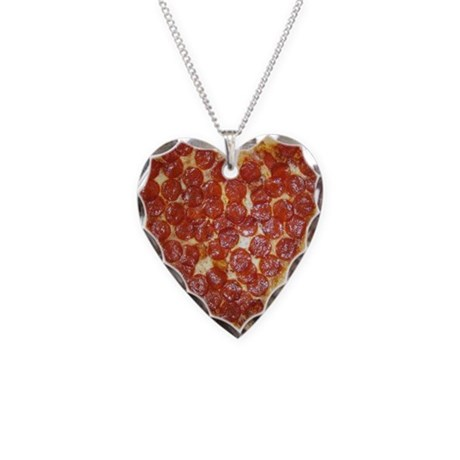 Necklace Pizza Heart Charm